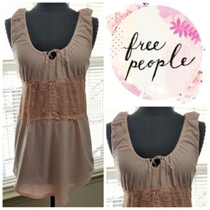 Free People Top Lace Pink Baby Doll Soft